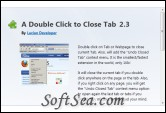 A Double Click to Close Tab Screenshot