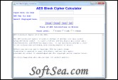 AES Calculator Screenshot