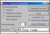 Atory Password Generator Screenshot