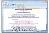 Business Accounts Software Excel Screenshot