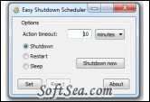 Easy Shutdown Scheduler Screenshot