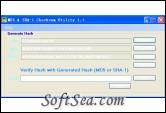 MD5 & SHA-1 Checksum Utility Screenshot