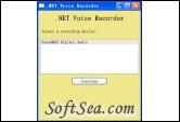.NET Voice Recorder Screenshot