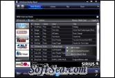 SIRIUS Internet Radio Player Screenshot