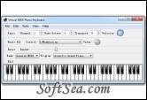 Virtual Midi Piano Keyboard Screenshot