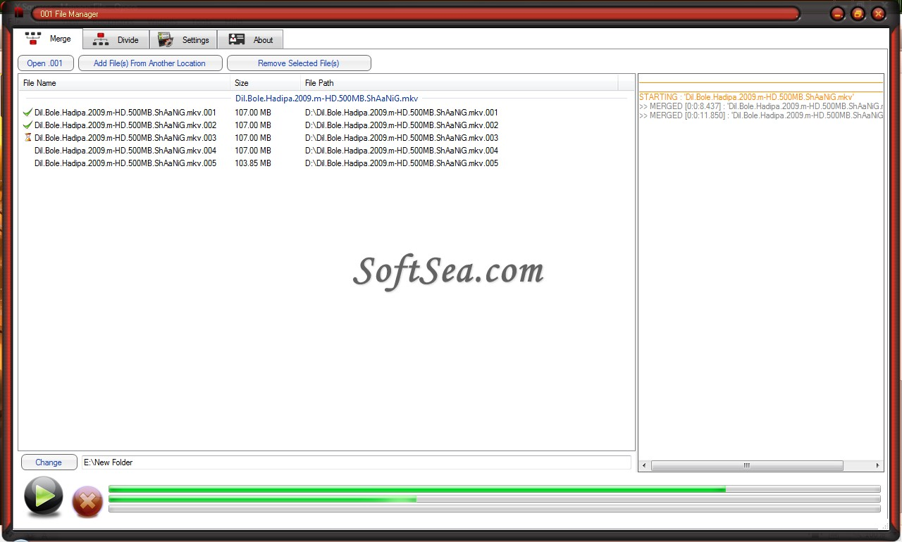 001 File Manager Screenshot