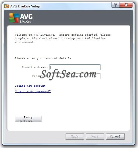 AVG LiveKive Screenshot