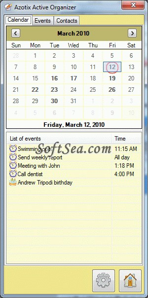 Active Organizer Screenshot