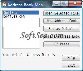 Address Book Manager Screenshot