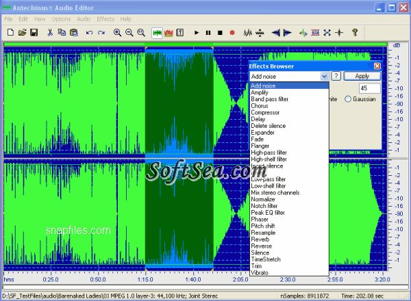 Antechinus Audio Editor Screenshot