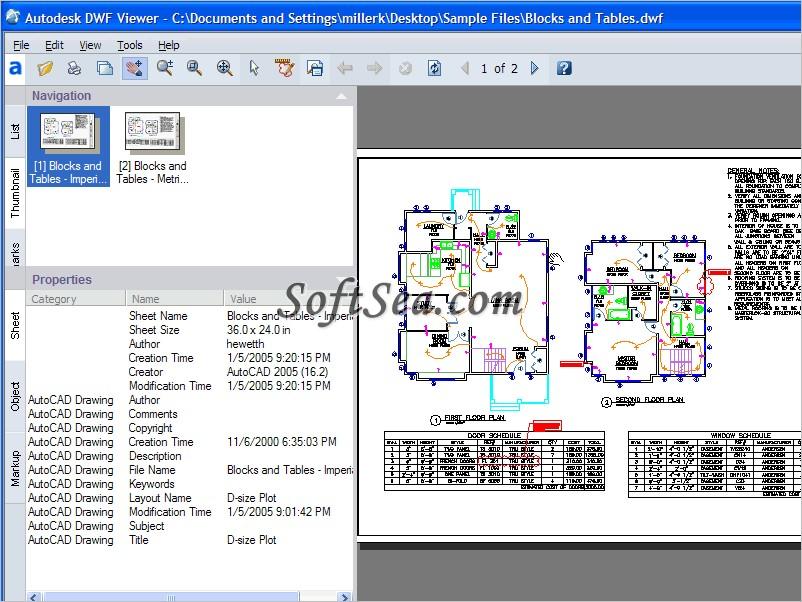 Autodesk DWF Viewer Screenshot