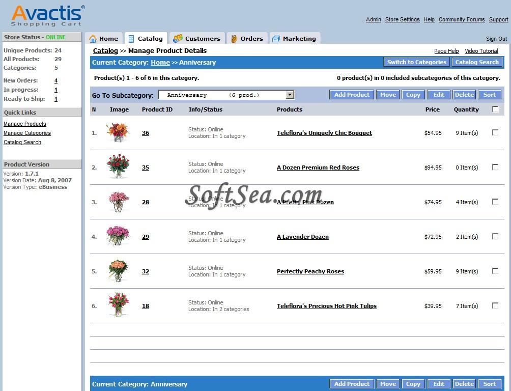 Avactis Screenshot
