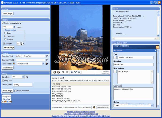 BD Sizer Screenshot