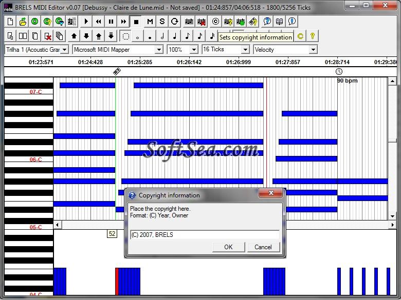 BRELS MIDI Editor Screenshot