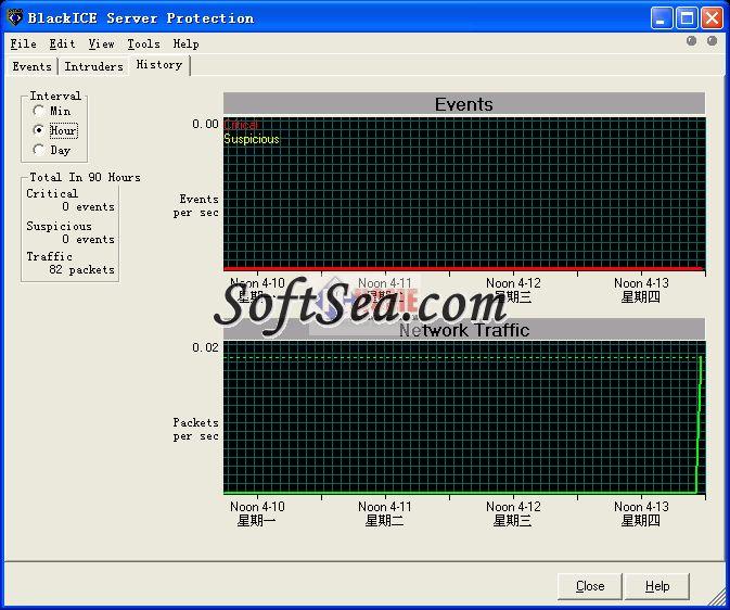 BlackICE Server Protection Screenshot