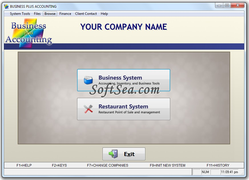 Business Plus Accounting Restaurant Professional Screenshot