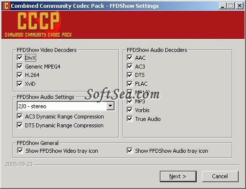 CCCP (Combined Community Codec Pack) Screenshot