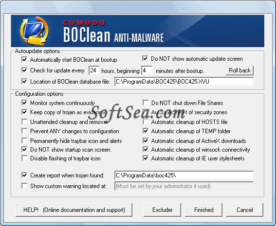 Comodo BOClean Screenshot