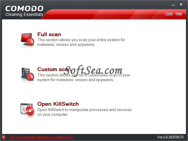 Comodo Cleaning Essentials (64-Bit) Screenshot