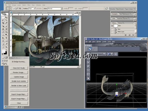 DAZ Studio 3D Bridge for Photoshop Screenshot