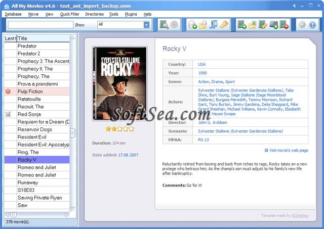 DVD Organizer Pro Screenshot