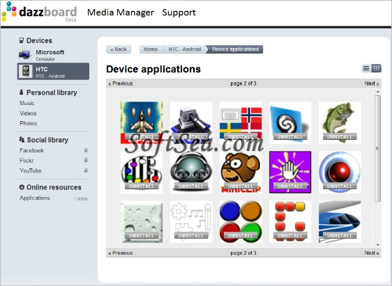 Dazzboard Screenshot