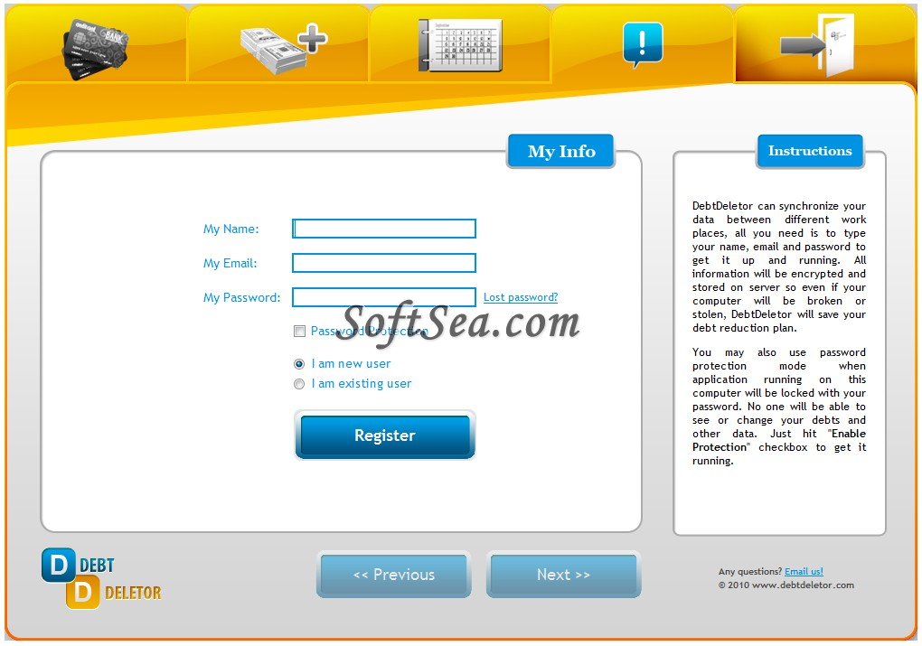 DebtDeletor Screenshot
