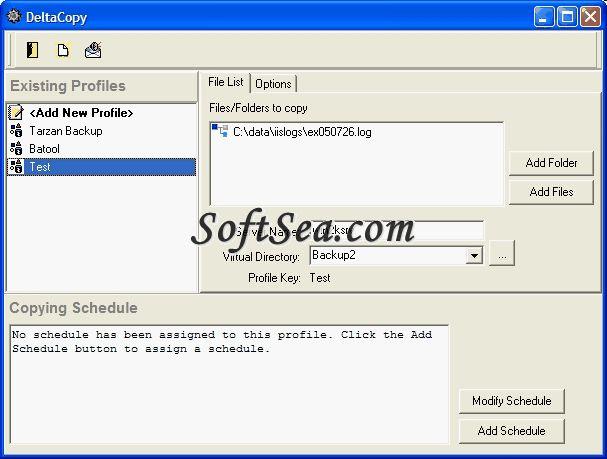 DeltaCopy Screenshot