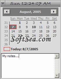 Desktop Calendar Reminder Screenshot