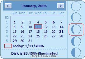 Desktop Lunar Calendar Screenshot