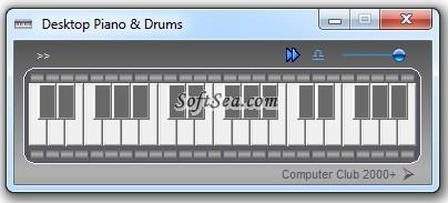 Desktop Piano and Drums Screenshot