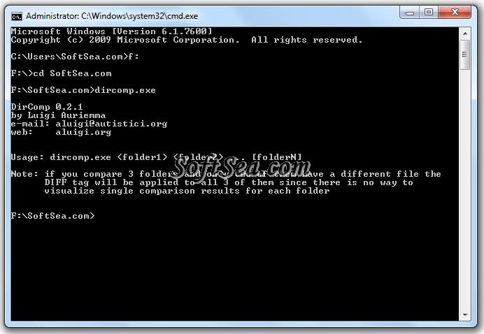DirComp Screenshot