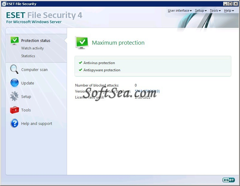 ESET File Security (32-bit) Screenshot