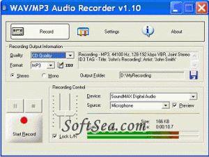 EZ SoftMagic Audio Recorder Pro Screenshot