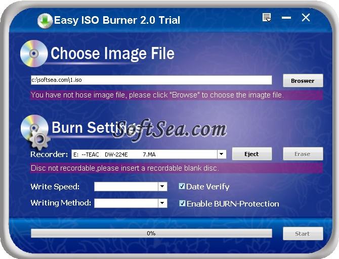 Easy ISO Burner Screenshot