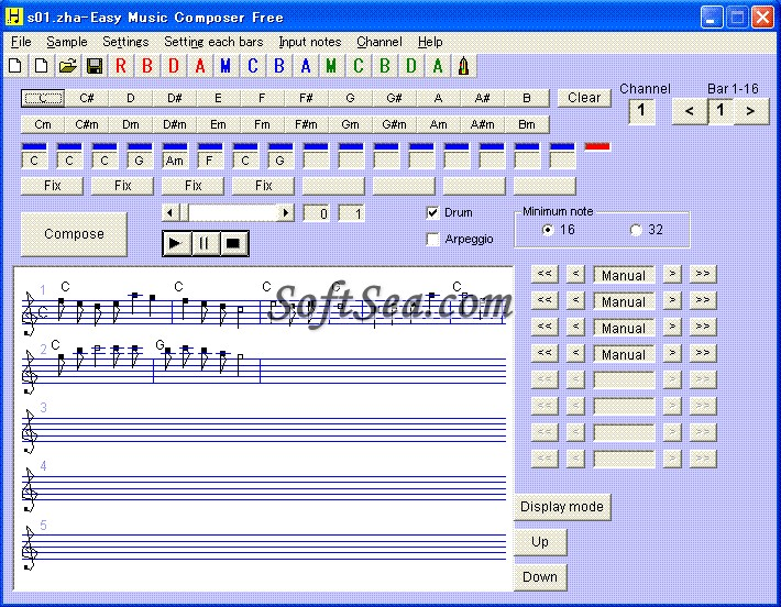 Easy Music Composer Free Screenshot