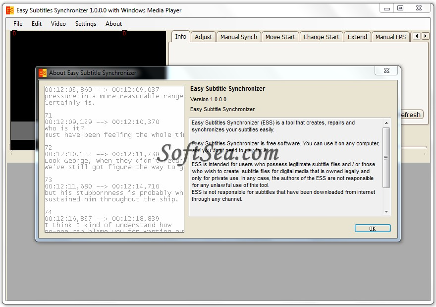 Easy Subtitles Synchronizer Screenshot