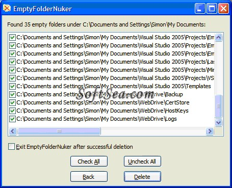 Empty Folder Nuker Screenshot
