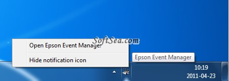 Epson Event Manager Utility Screenshot