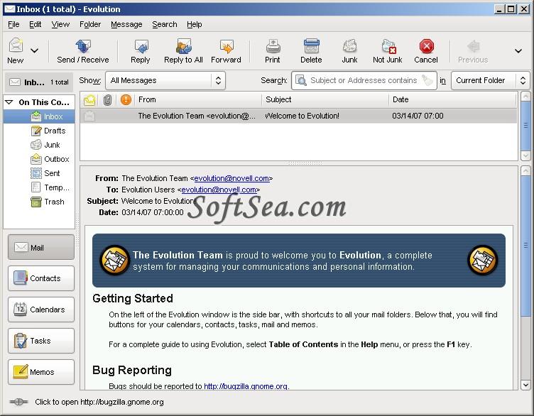 Evolution for Windows Screenshot