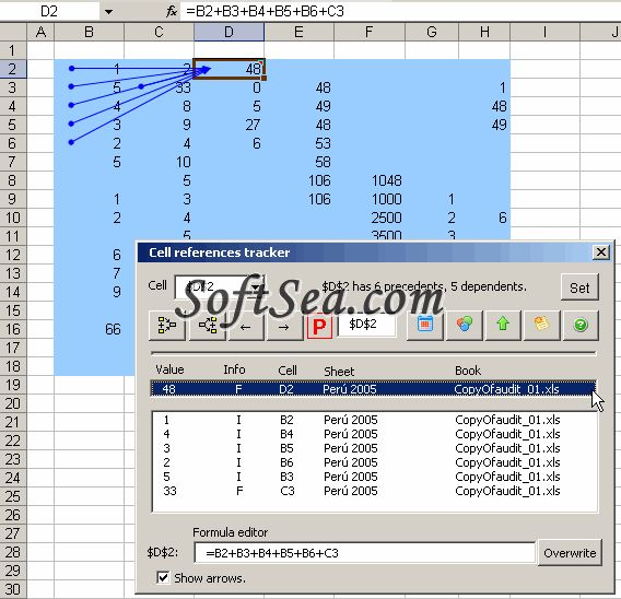 Excel Spreadsheet Auditor Screenshot