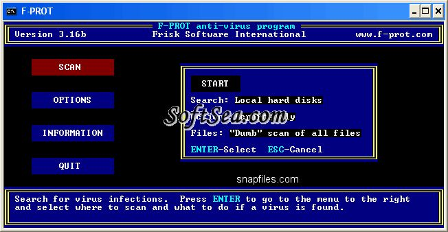 F-Prot Antivirus for DOS Screenshot