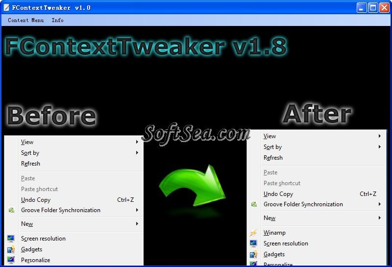 FContext Tweaker Screenshot