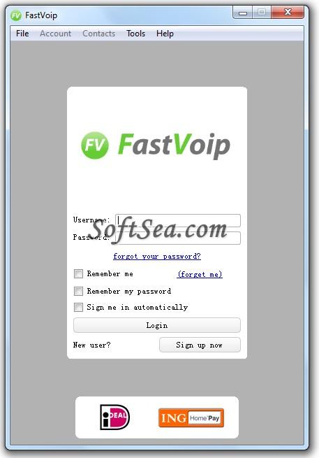 FastVoip Screenshot