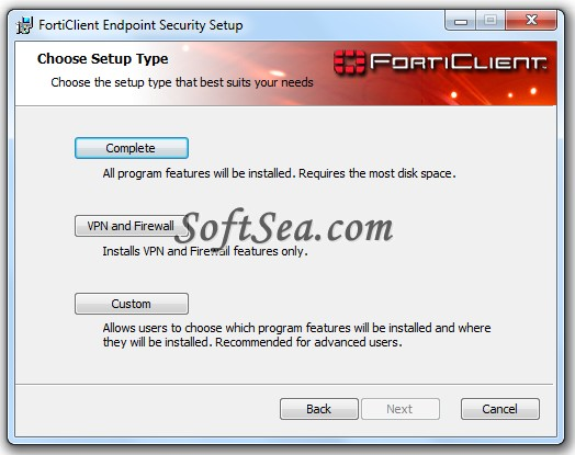 FortiClient Endpoint Security Standard Edition (64-bit) Screenshot