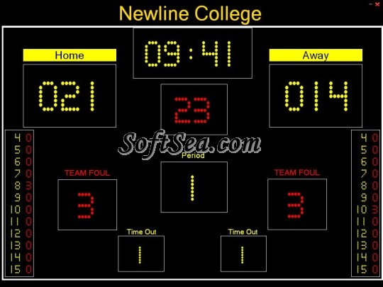 Free Basketball Scoreboard Screenshot