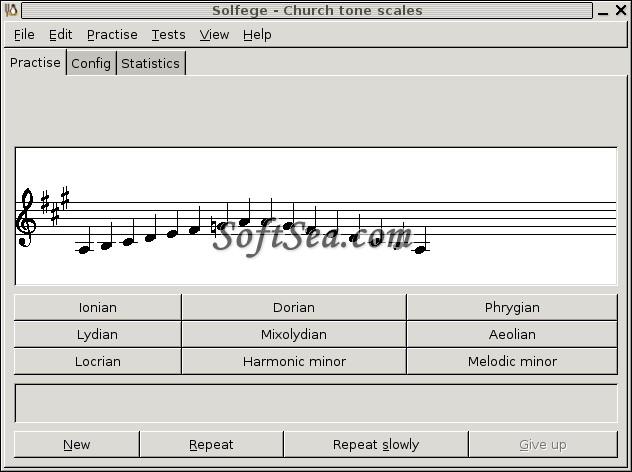 GNU Solfege Screenshot
