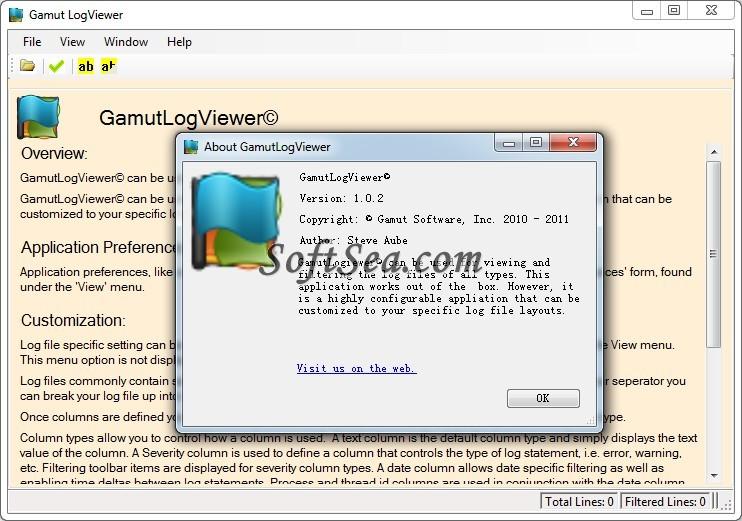 Gamut LogViewer Screenshot