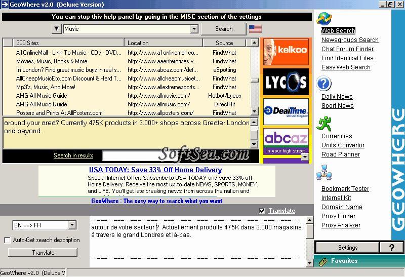 GeoWhere Screenshot