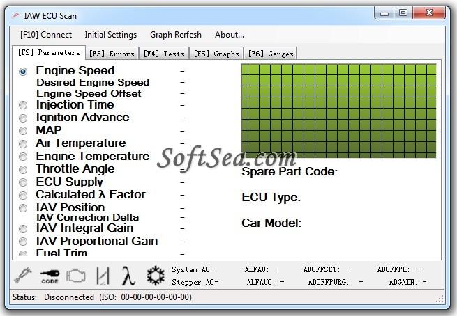 IAW ECU Scan Screenshot